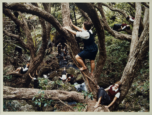 Justine Kurland, Jungle Gym, 2001; Chromogenic color print, 30 x 40 in.; National Museum of Women in the Arts, Gift of Heather and Tony Podesta Collection; © Justine Kurland, Courtesy of the artist Mitchell-Innes & Nash, New York